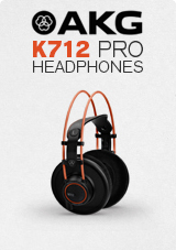 AKG K712 PRO Open-Back Dynamic Reference Headphones