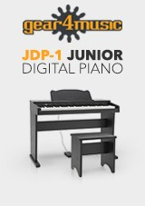 JDP-1 Junior Digital Piano by Gear4music, Matte Black