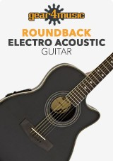 Guitare Électro-Acoustique Roundback par Gear4music, Black